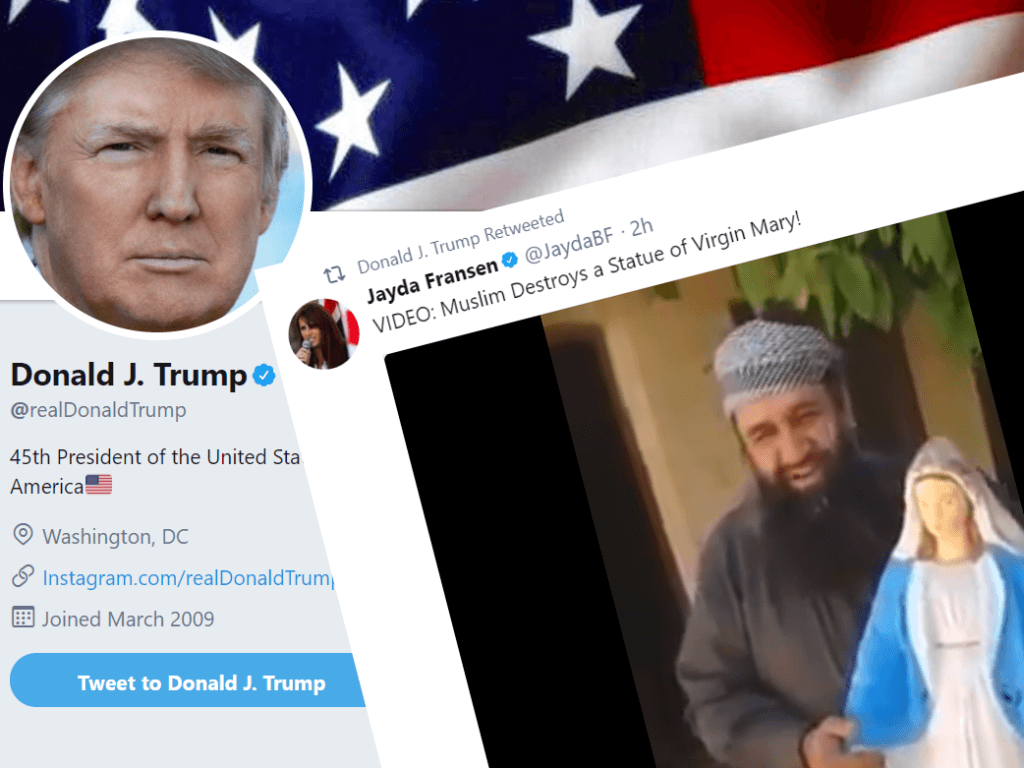 Trump Retweets Controversial 'Britain First' Activist Jayda Fransen
