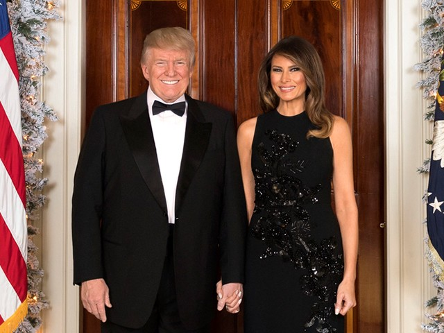 Fashion Notes: Melania Trump Sparkles for White House Christmas Portrait in Custom-Made Delpozo