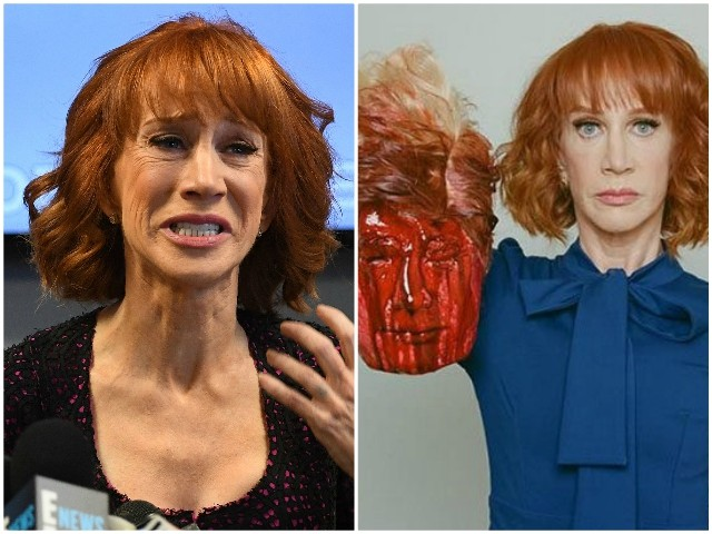 Kathy Griffin Blames Trump for Professional Consequences of Trump Beheading Photo
