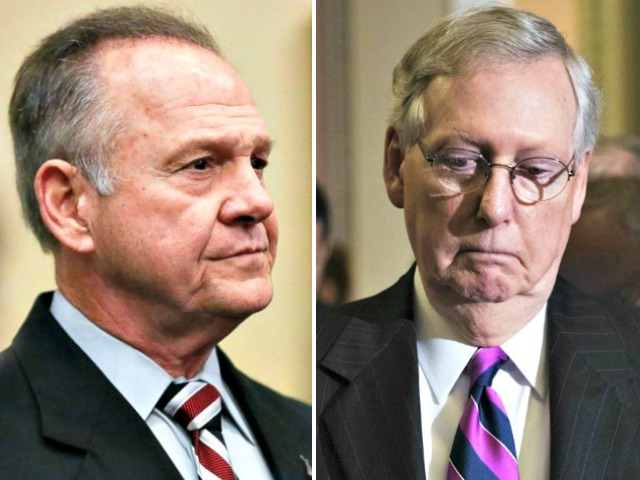 Mitch McConnell Folds on Opposition to Roy Moore: 'We're Going to Let the People of Alabama Decide'