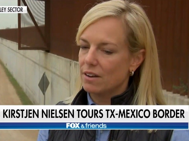 DHS Sec Nielsen Tours Southern Border: Building Trump's Wall is 'Priority Area'