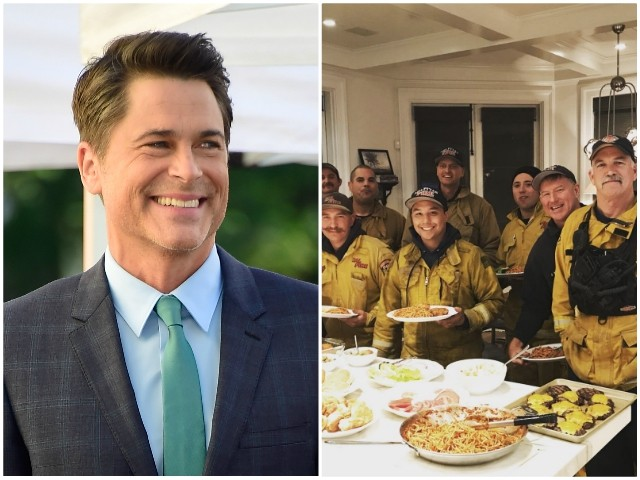 Rob Lowe Cooks Dinner for Firefighters to Thank Them for Saving His House