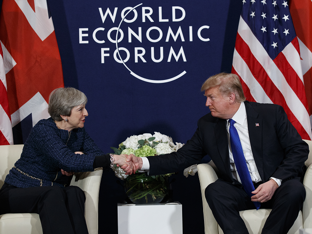 President Trump and PM May Talk at Davos: 'We Continue to Have That Really Special Relationship'