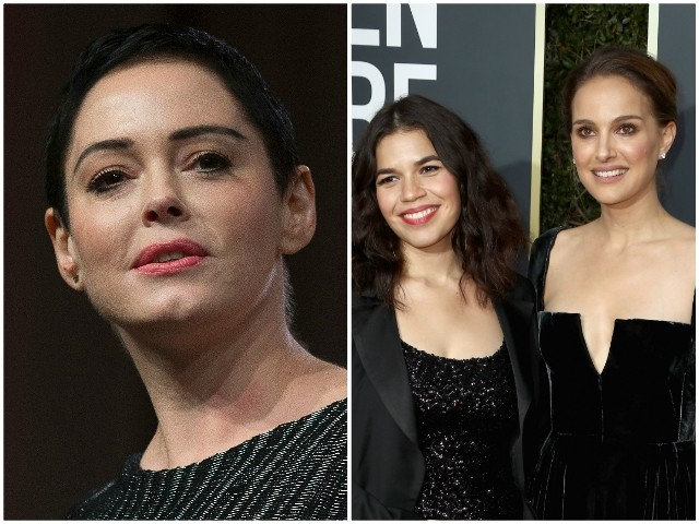Rose McGowan Blasts Black-Clad Golden Globe Attendees for 'Hollywood Fakery'