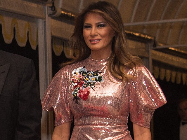 Fashion Notes: Melania Trump Is Glitter Queen at White House New Year's Eve Party
