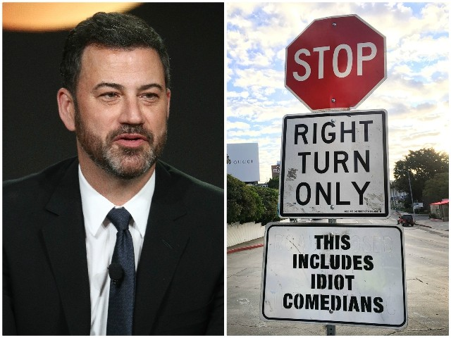 Photos: Street Artist Mocks 'Idiot' Jimmy Kimmel for Hollywood Car Crash