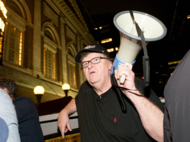 Michael Moore Marched in Anti-Trump Rally Allegedly Organized by Russians