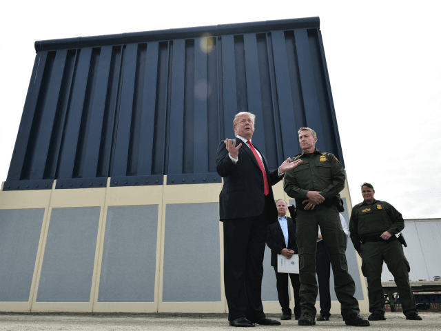 Spending Bill: Trump Banned from Building Border Wall with Prototypes He Toured in San Diego