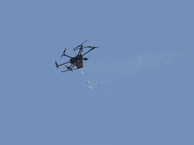 Israeli Drone Drops Tear Gas on Gaza Protesters