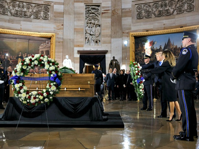 Billy Graham Lies in Honor in U.S. Capitol; Trump, Pence, Congressional Leaders Attend
