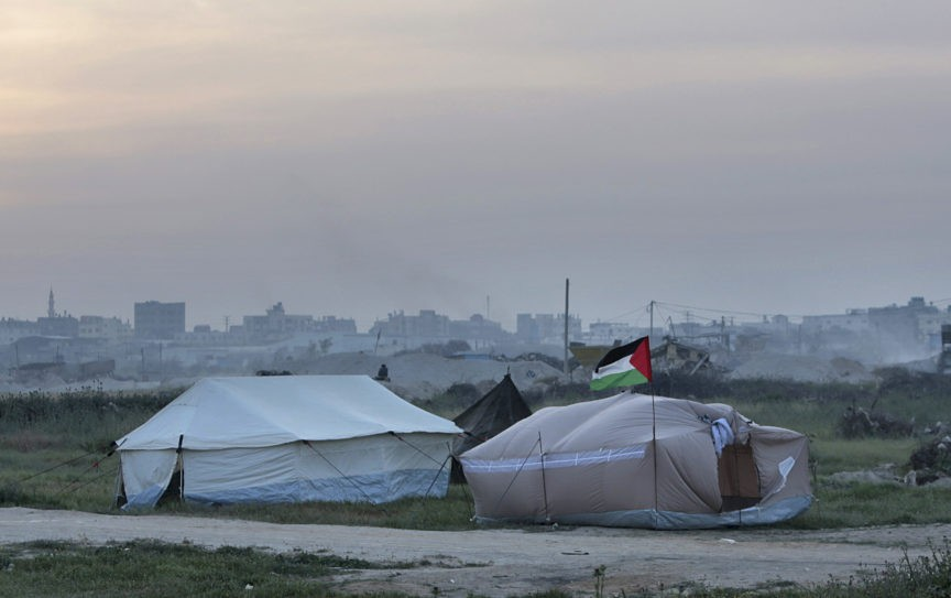 Palestinians Setting Up Tent City to Stage Gaza Border Chaos