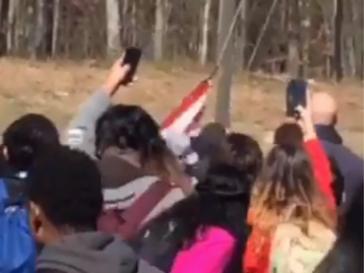 Watch: Tennessee Students Tear Down Flag, Fight in Walk-Out