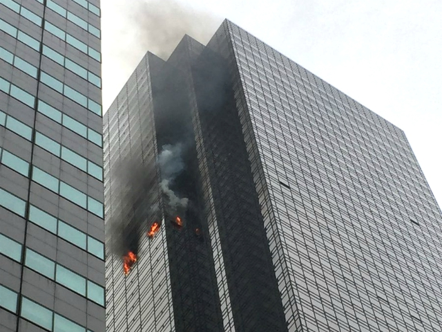 New York Fire Department Reports Fire on the 50th Floor of Trump Tower
