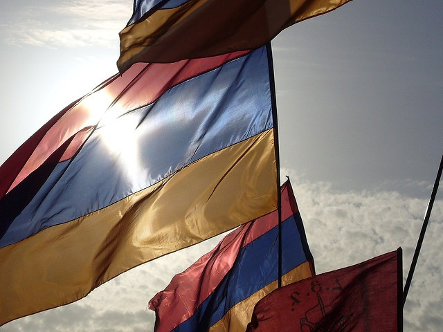 Teenagers with Armenian Flag Shot at on Anniversary of Armenian Genocide