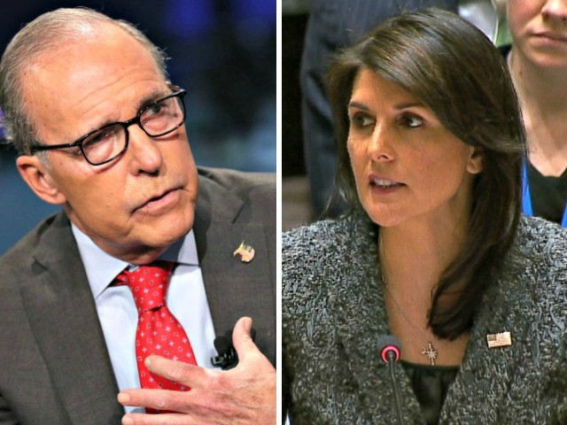 Kudlow: No White House Confusion on Russia Sanctions, Haley 'Got Ahead of the Curve'