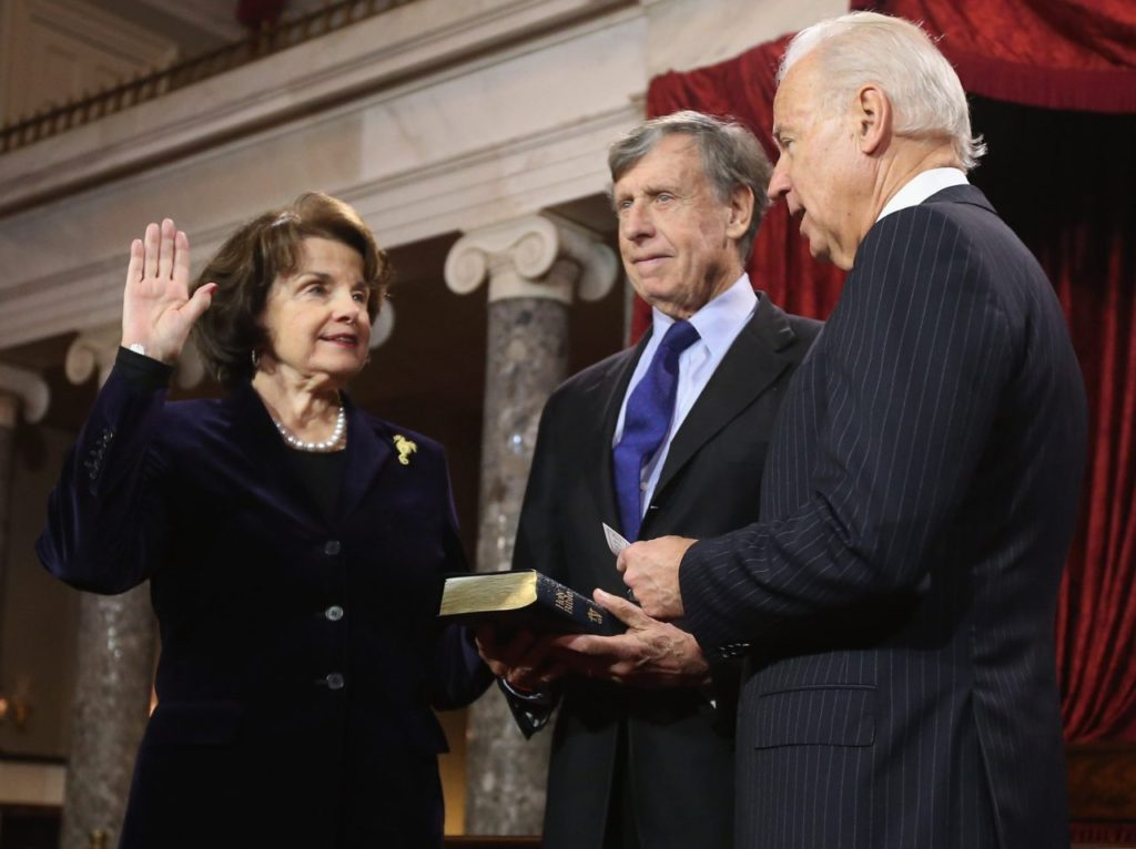 Joe Biden Endorses 'Tenacious' Dianne Feinstein for Re-Election