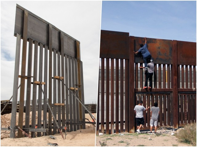 Trump's New Border 'Wall' Resembles Fence Obama Constructed That Illegal Aliens Recently Hopped Over