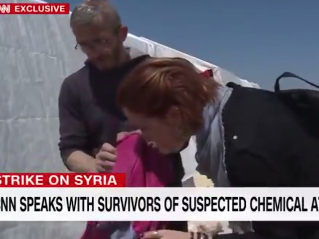 Watch: CNN Correspondent Smells Chemical Weapon in Syria