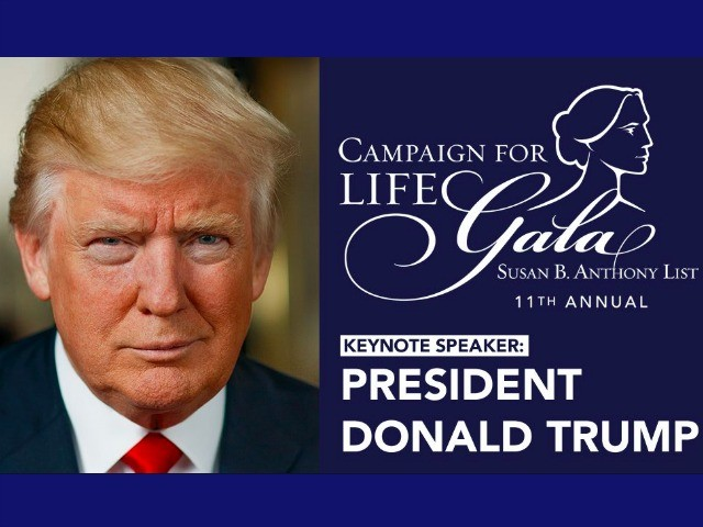 President Donald Trump to Keynote Pro-Life Gala