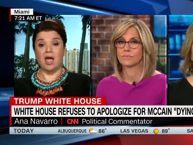 CNN's Ana Navarro: Trump White House 'Irritated' McCain Is 'Not Dying of Cancer' — 'He's Living with Cancer'