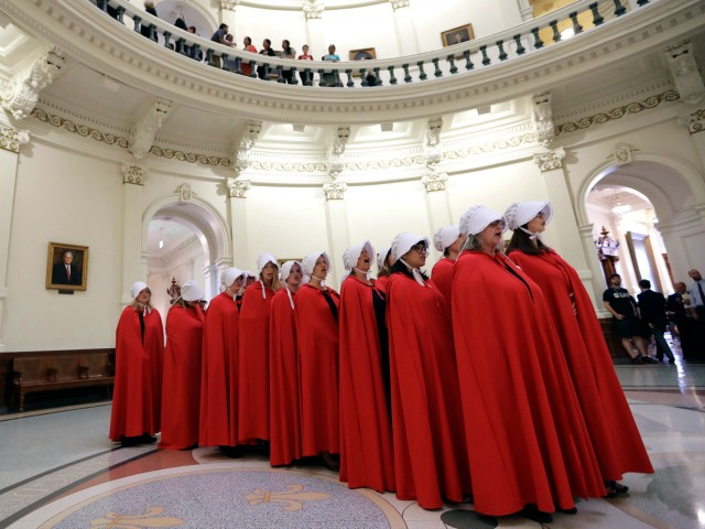 Missouri Lawmakers Approve Defunding Abortion Providers as Planned Parenthood's 'Handmaids' Protest