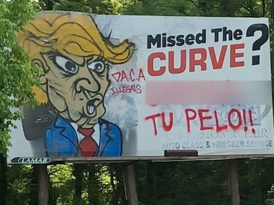 Anti-Trump Graffiti Surfaces in Alabama --- Local Police Warn 'Can Be Considered a Hate Crime'