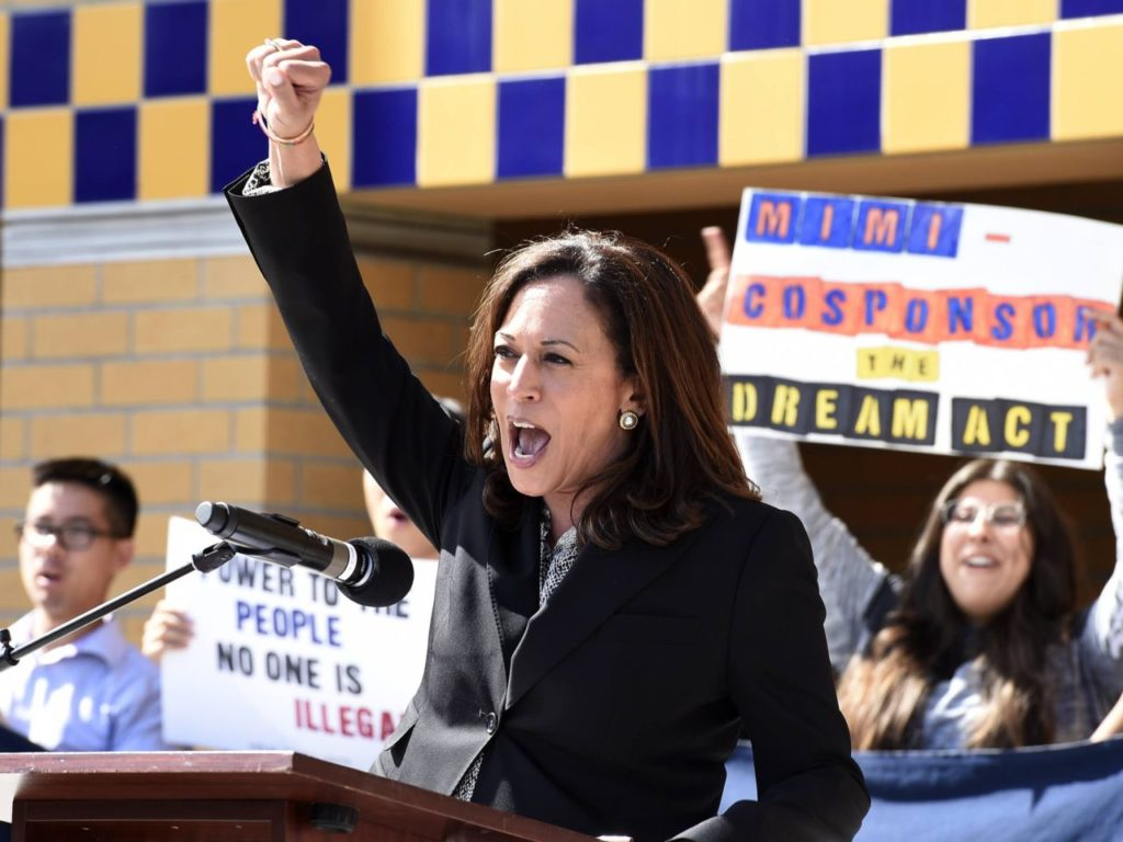 Kamala Harris Joins Protest Against Trump's Immigration Policy at Border