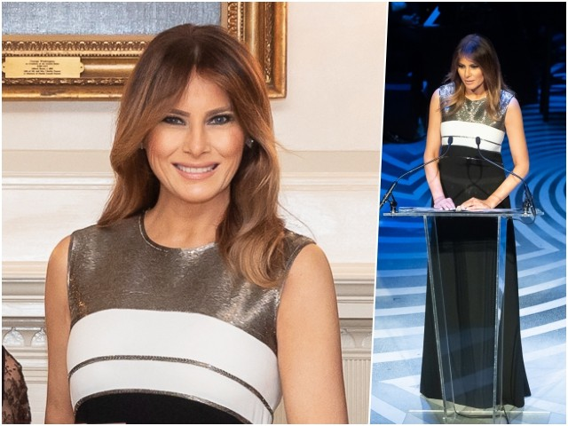 Fashion Notes: Melania Trump Shimmers at Lincoln Gala in Escada Gown