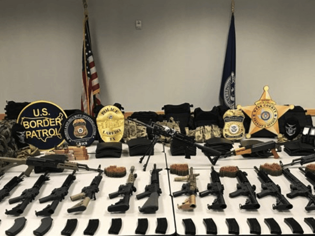 ICE: Large Weapons Cache Seized En Route to Mexico