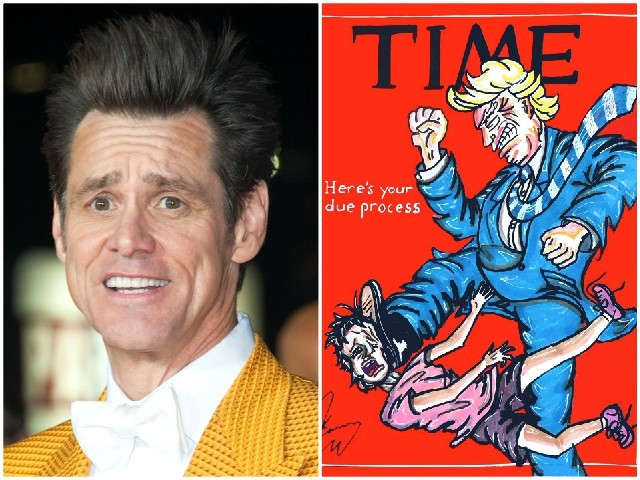 Trump Stomps Migrant Child in Jim Carrey's TIME Cover Parody