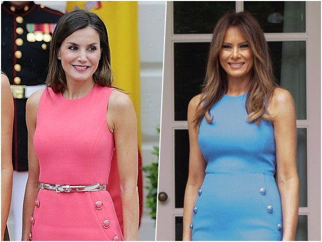 Fashion Deja Vu: Queen Letizia of Spain Pays Homage to Melania Trump in Michael Kors