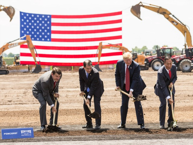 Donald Trump Breaks Ground for Foxconn Plant in Wisconsin