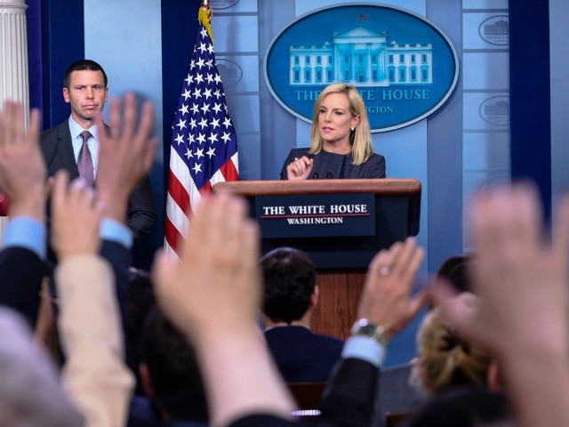DHS Nielsen Defends the Law as Media Mob Urges End to Enforcement