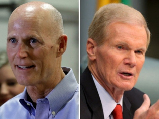 Florida US Senate Poll: Scott Holds Narrow Lead Over Nelson --- Up 9 Points Among Older Voters
