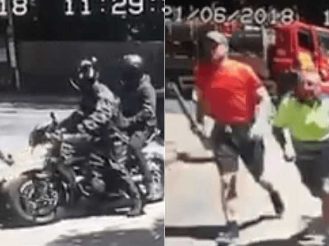 VIDEO: London Bike Gang Attack Mother and Child, Hero Workmen Step In