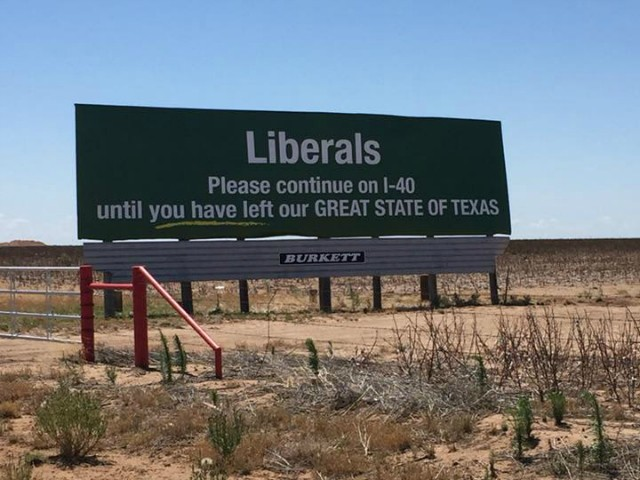 Billboard Client Caves to Pressure, Removes Ad Telling Liberals to Leave Texas