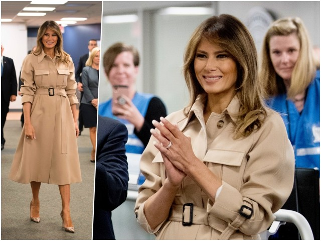 Fashion Notes: Melania Trump Dons Celine Trench Coat for Hurricane Preparedness Meeting