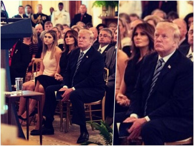 Photos: Melania Trump Stuns in Little Black Dress to Honor Gold Star Families