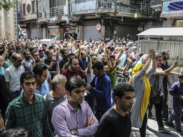 Iran: Protesters Chant 'Death to Palestine' in Tehran's Grand Bazaar