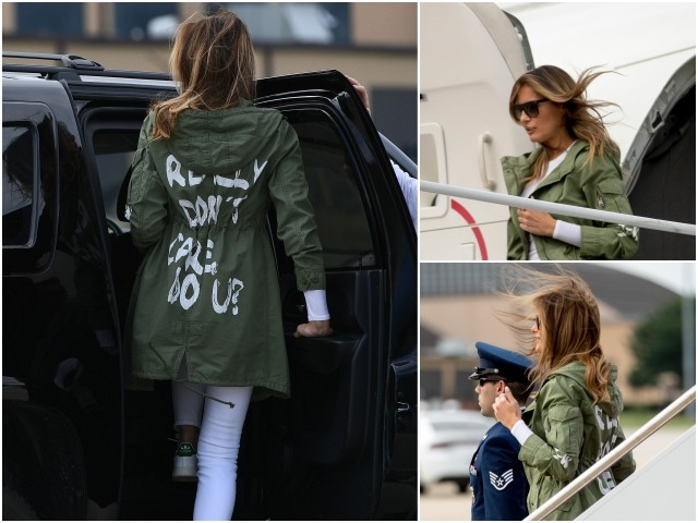Melania Trump's 'I Really Don't Care, Do U?' Parka Selling for $900 on Ebay