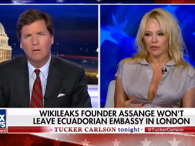 Pamela Anderson Defends Julian Assange --- 'His Intention Was Not to Get Trump Elected, It Was to Give True Information'