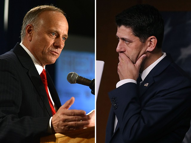 Exclusive -- Steve King: Republican House Members Considering Forcibly Removing Paul Ryan from Speakership