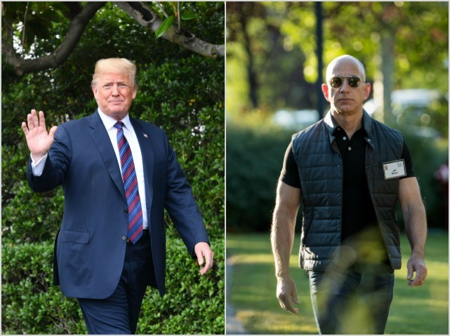 Trump Jumps Wages for Jeff Bezos' Warehouse Workers