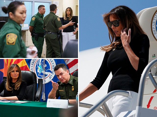 Melania Trump Visits Tucson Facility to Speak with Border Agents