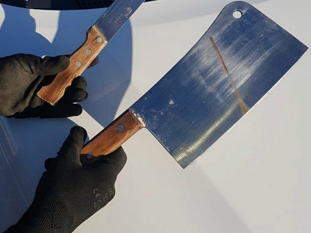 Israeli Police Find Palestinian with Knife, Meat Cleaver Outside Jewish Community