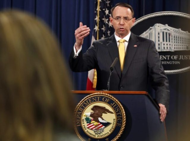 Watch Live: Rosenstein Delivers 'Law Enforcement Announcement'