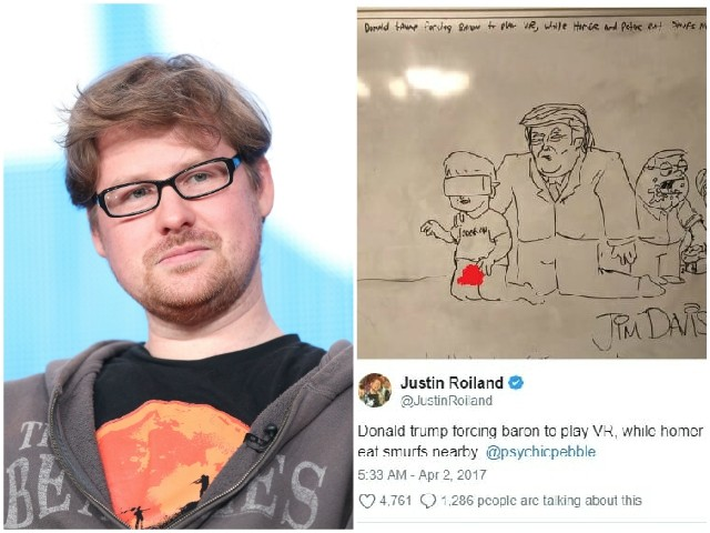 'Rick and Morty' Co-Creator Justin Roiland Posted Nude Drawing of Barron Trump