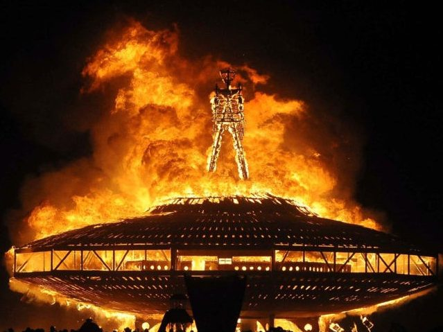 California Government Steps in Poop at Burning Man