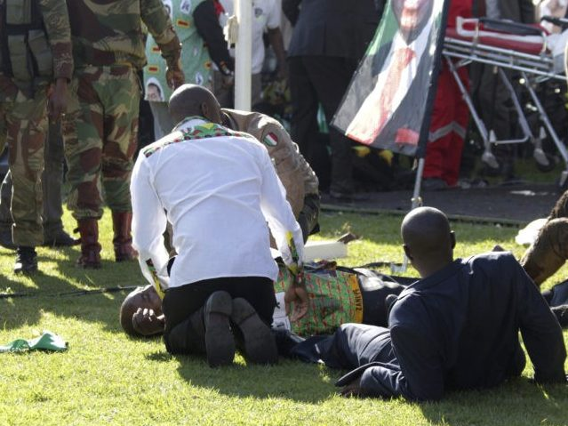 Suspects Arrested in Grenade Attack on Zimbabwean President Mnangagwa