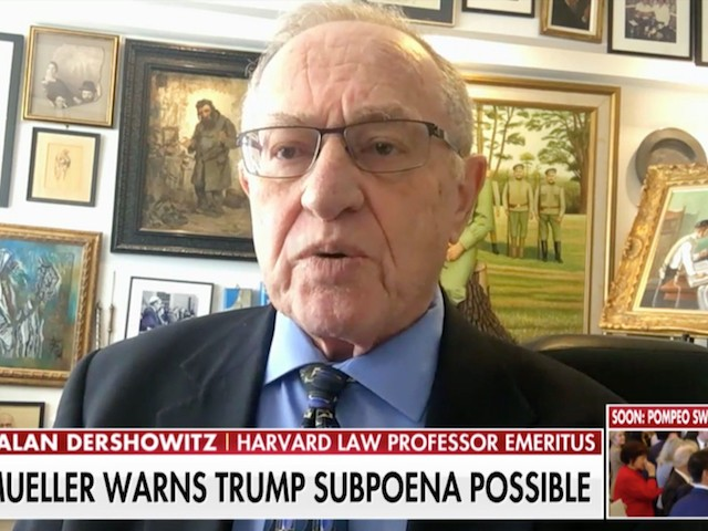 Dershowitz: Trump-Cohen Tape 'Must Be Subjected to Forensic Analysis'